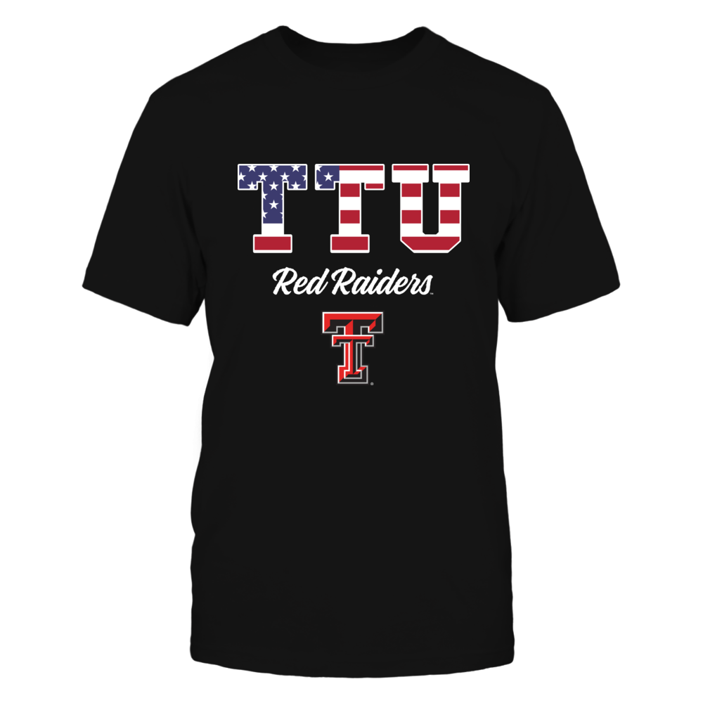 Texas Tech Red Raiders - Nation Flag Pattern Letters Front picture