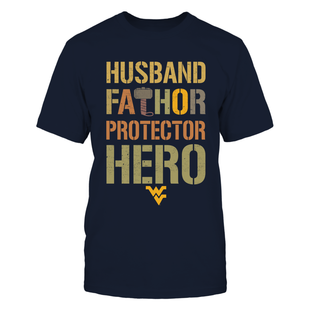 West Virginia Mountaineers - Husband Fathor Protector Hero Front picture