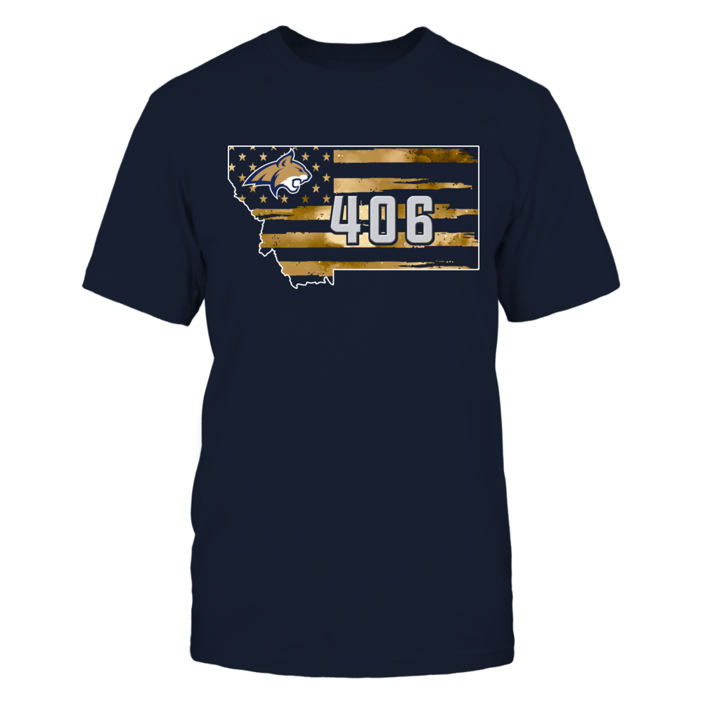Montana State Bobcats - Galaxy Flag State Map - Area Code Front picture