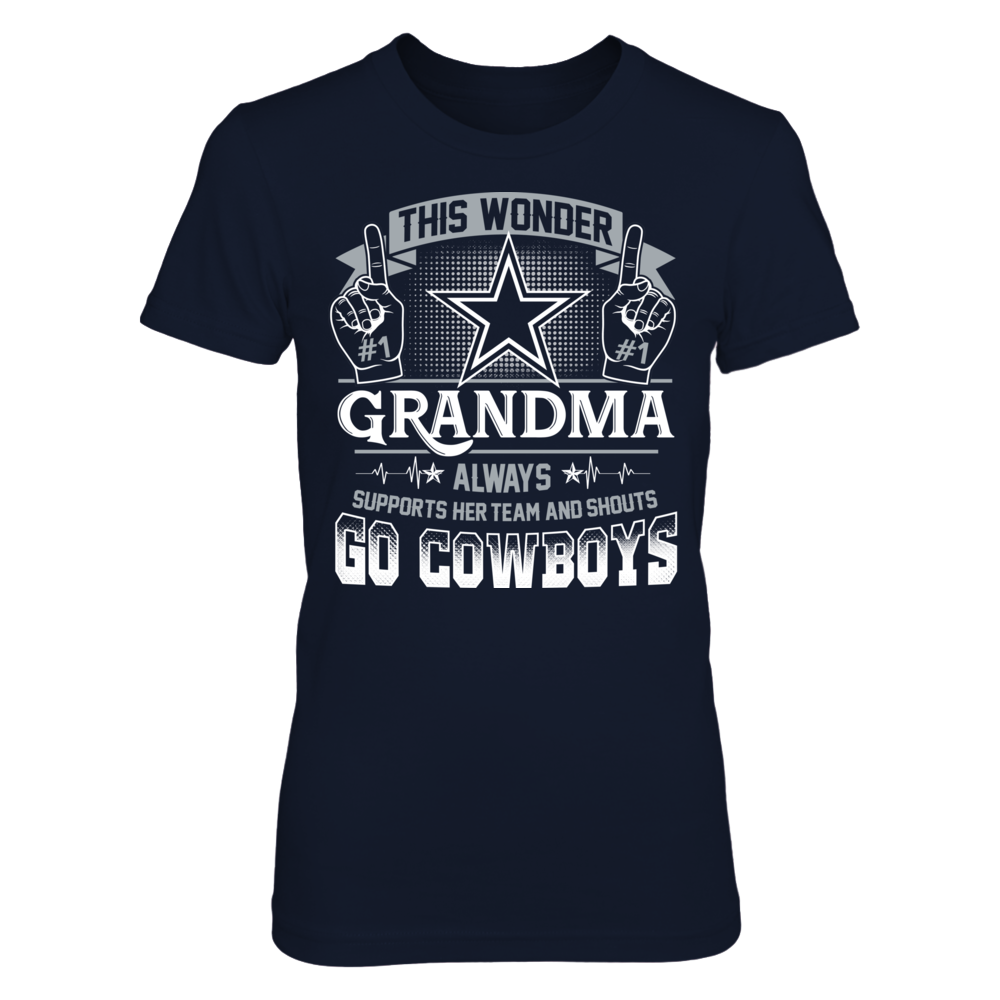 Dallas Cowboys - Wonder grandma support NFL Front picture