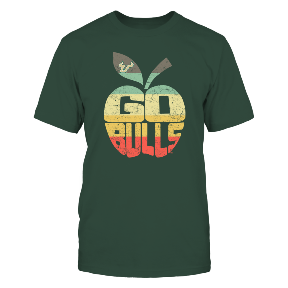 South Florida Bulls - Teacher - Vintage Graphic - Slogan Inside Apple - IF13-IC13-DS37 Front picture