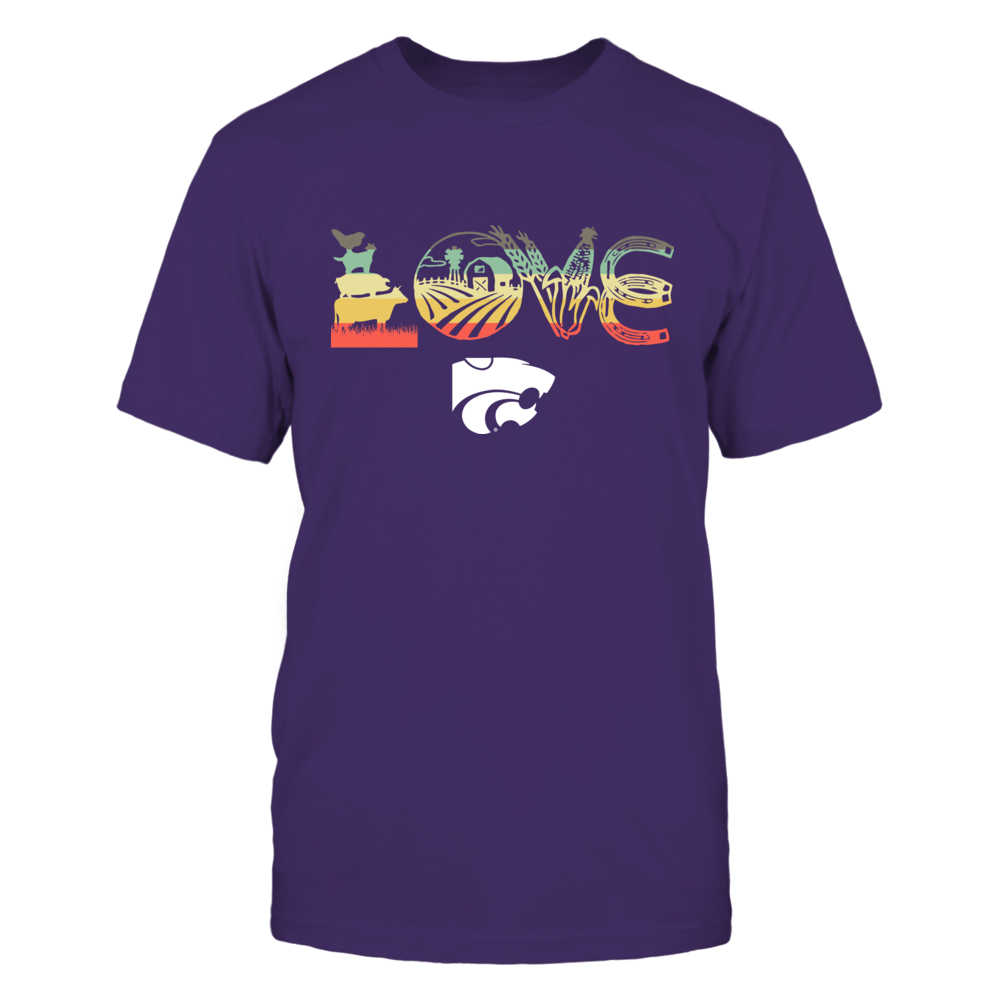 Kansas State Wildcats - Farmer - Love My Team - Vintage Graphic Front picture