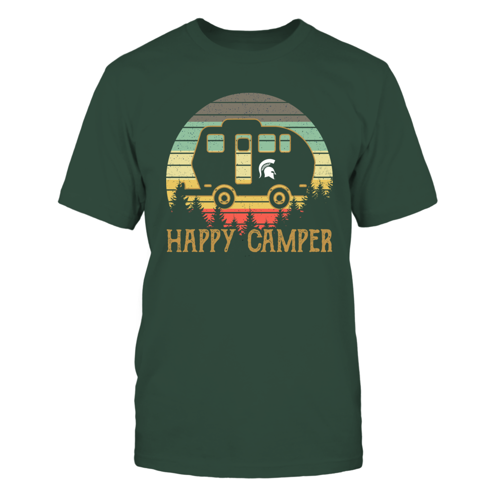 Michigan State Spartans - Retro Circle Vintage Graphic - Camping Car Front picture