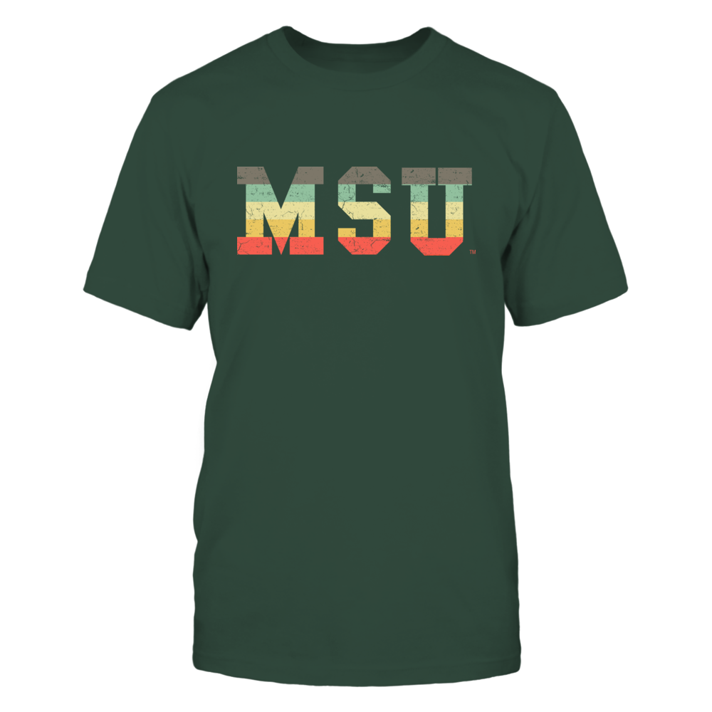 Michigan State Spartans - Patterned Letter Vintage Graphic Front picture