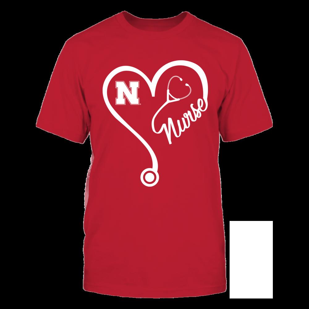 Nebraska  Cornhuskers - Nurse Heart And Team Front picture