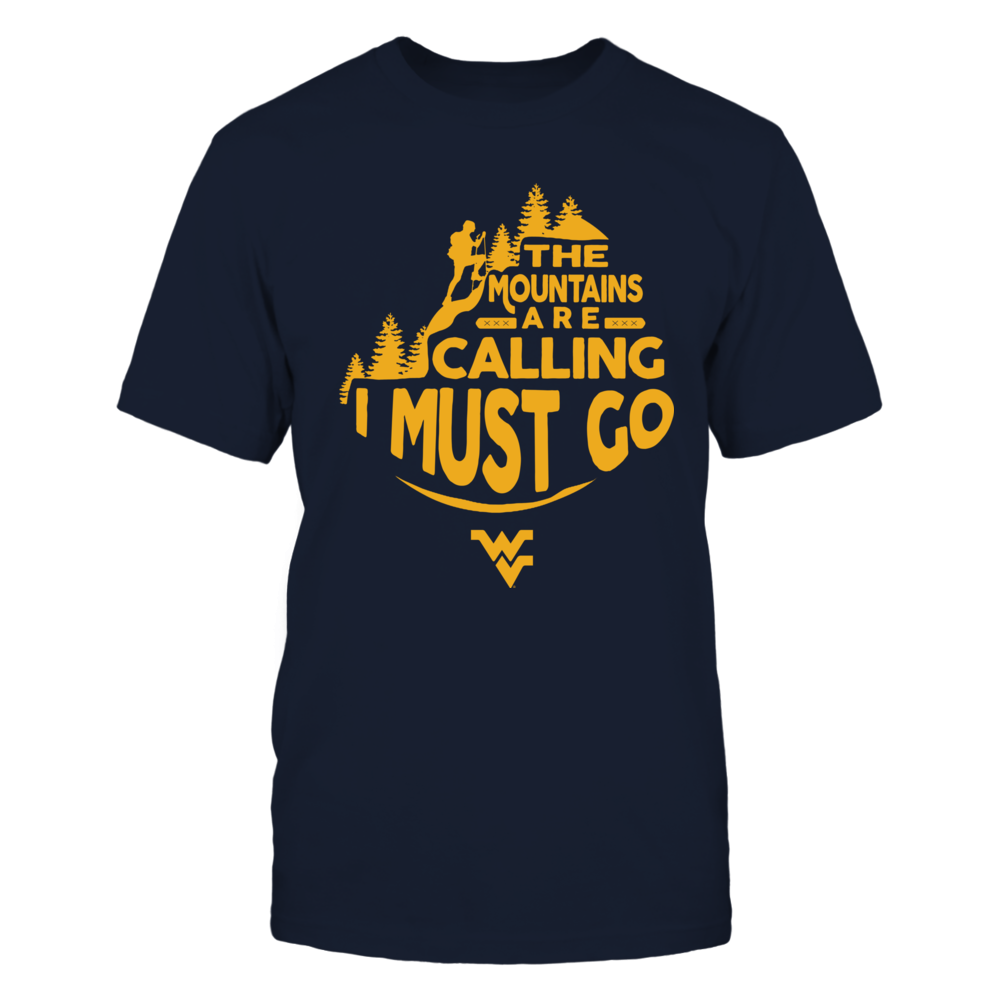 West Virginia Mountaineers - The Mountains Are Calling - Retro Style Front picture