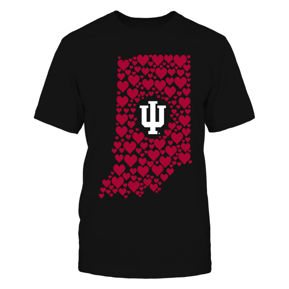 Indiana Hoosiers - Heart Map Front picture