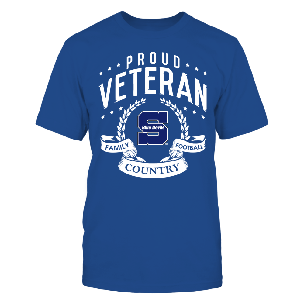 Wisconsin Stout Blue Devils - Proud Veteran Front picture