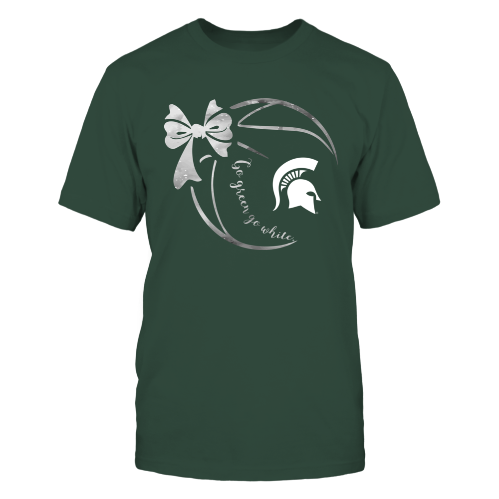 Michigan State Spartans - Galaxy Basketball Ribbon Front picture