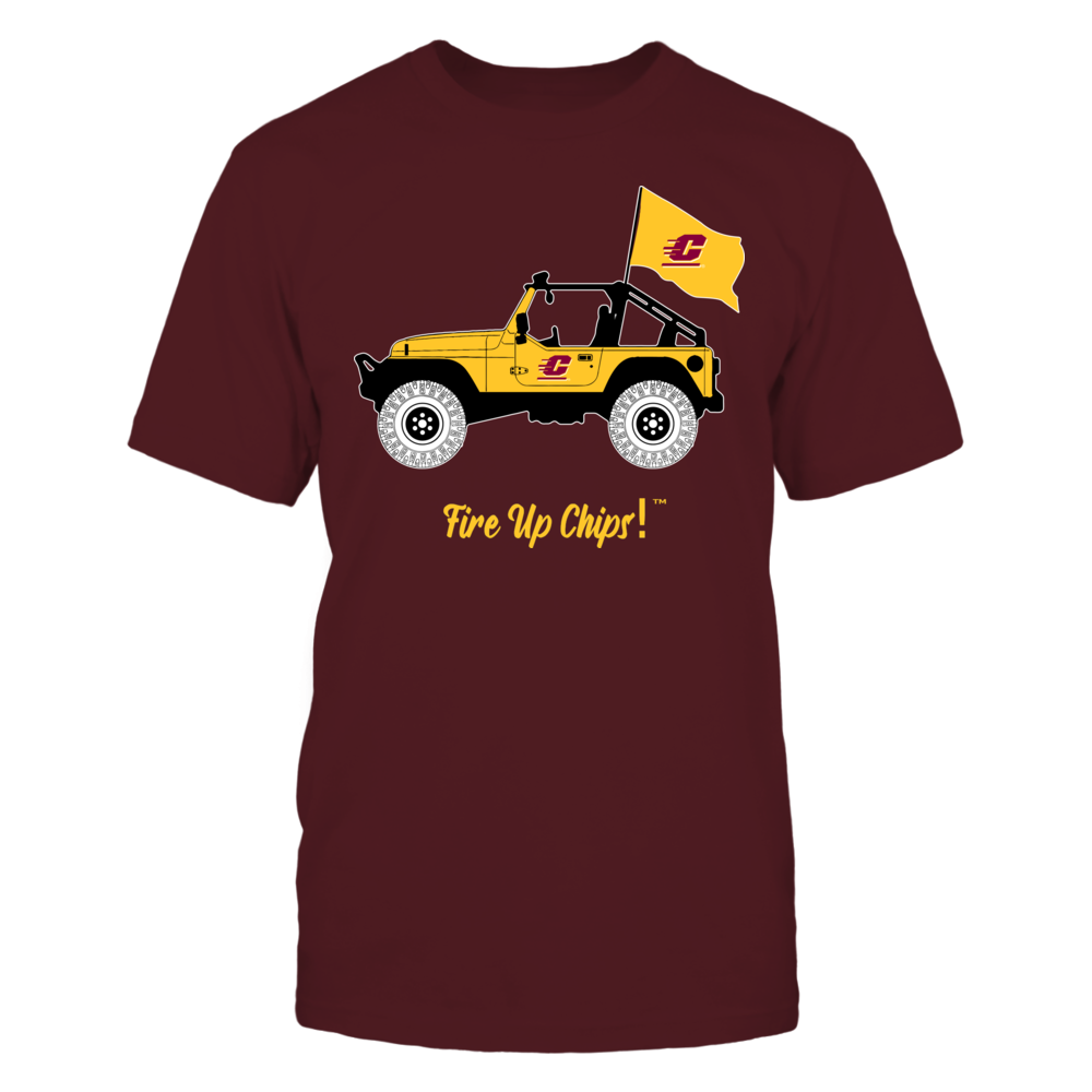 Central Michigan Chippewas - Jeep - Banner - IF-IC13-DS27 Front picture