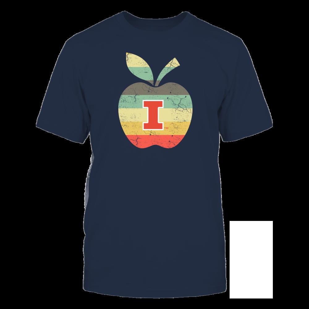 Illinois Fighting Illini - Teacher - Apple Vintage Front picture