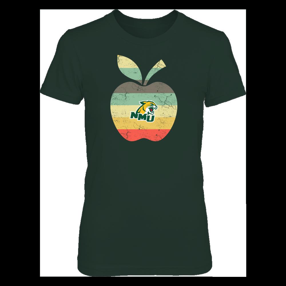 Northern Michigan Wildcats - Teacher - Apple Vintage Front picture