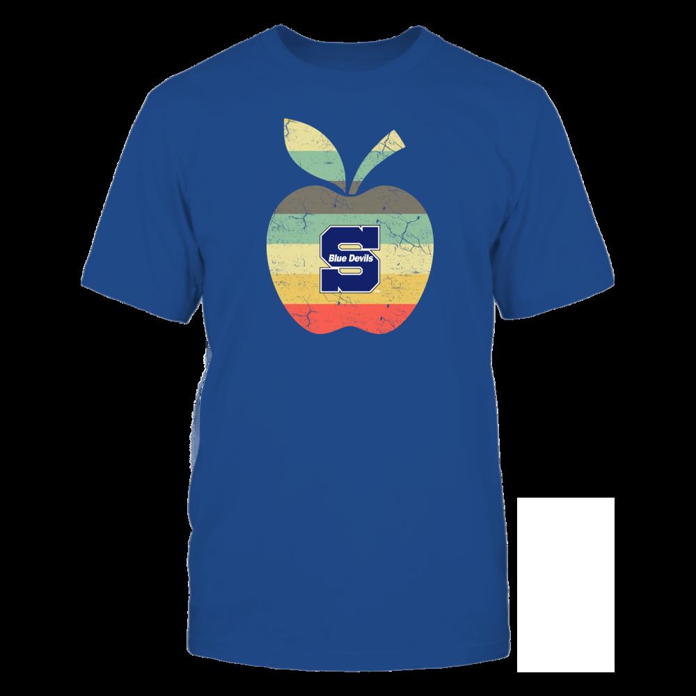 Wisconsin Stout Blue Devils - Teacher - Apple Vintage Front picture