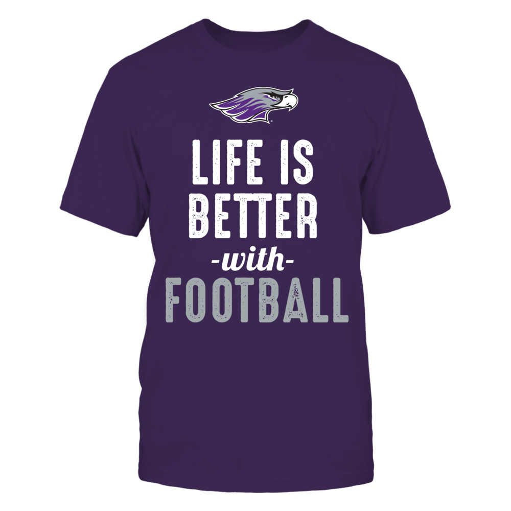Wisconsin-Whitewater Warhawks - Life is Better with Football Front picture