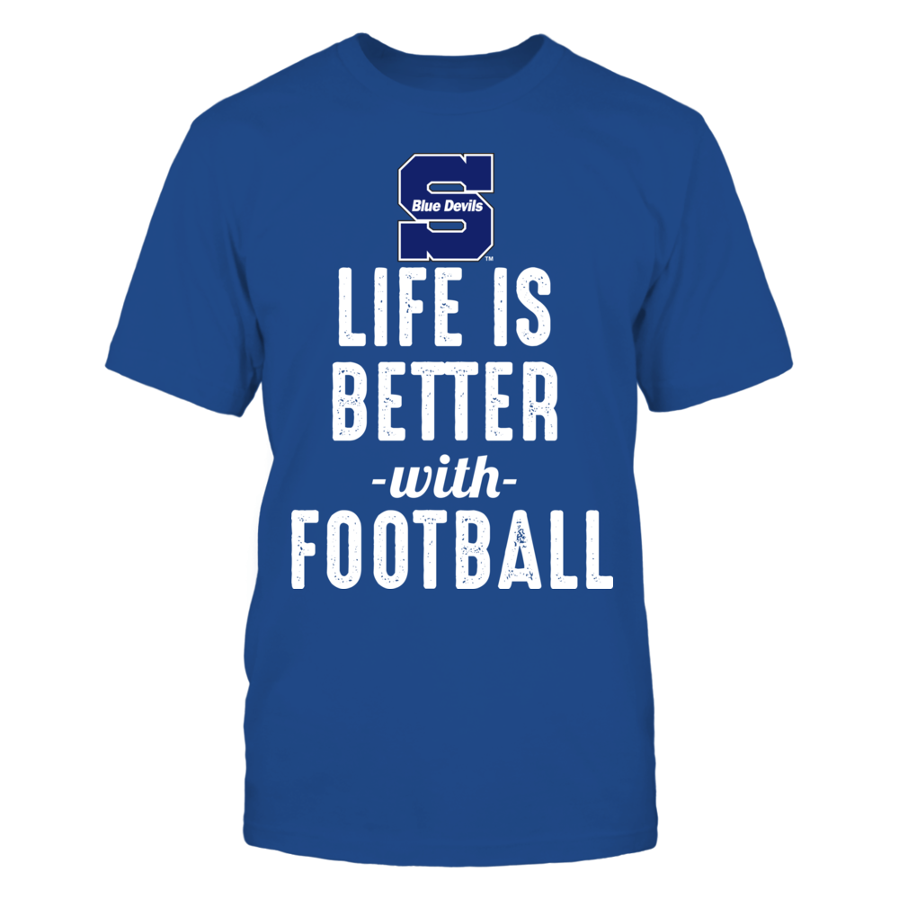 Wisconsin Stout Blue Devils - Life is Better with Football Front picture