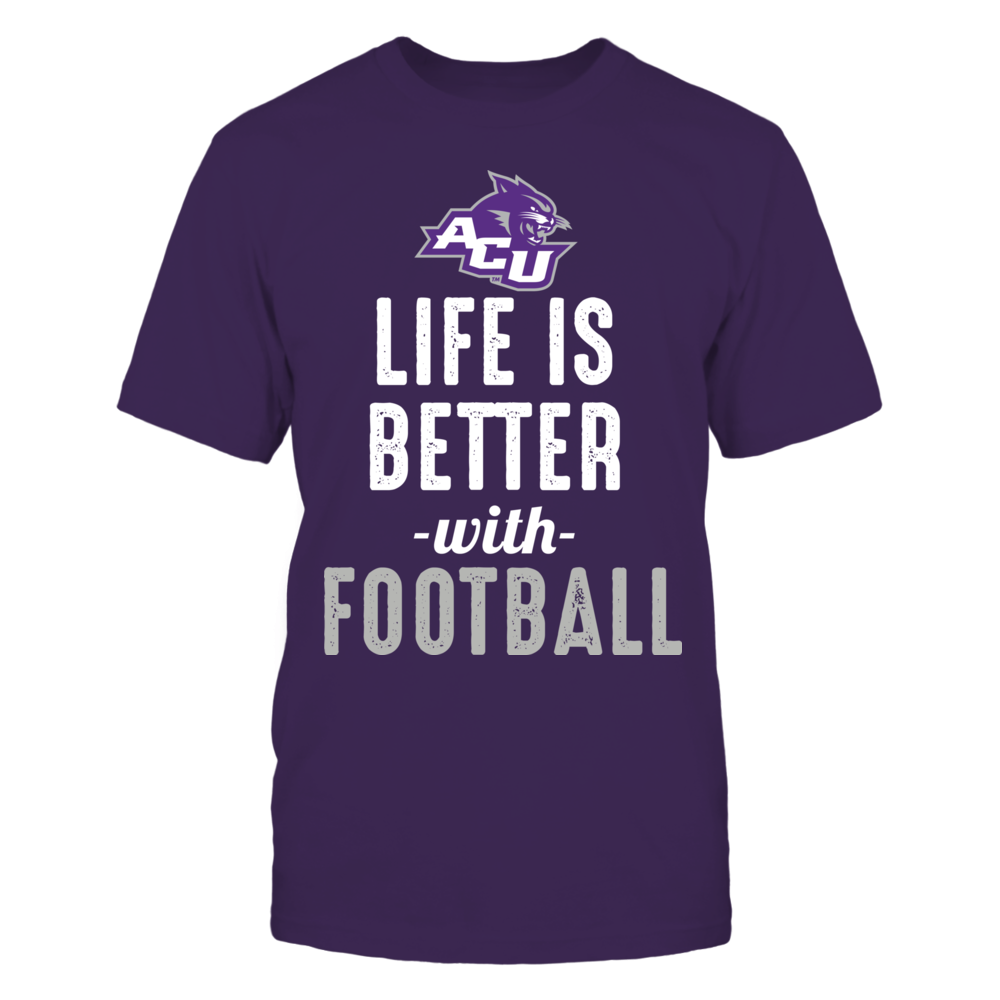 Abilene Christian Wildcats - Life is Better with Football Front picture