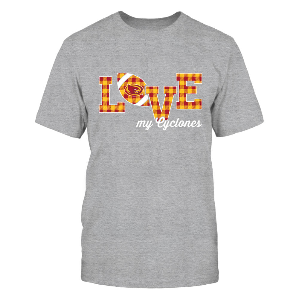 Iowa State Cyclones - Love My Team - Football - Checked Pattern Front picture