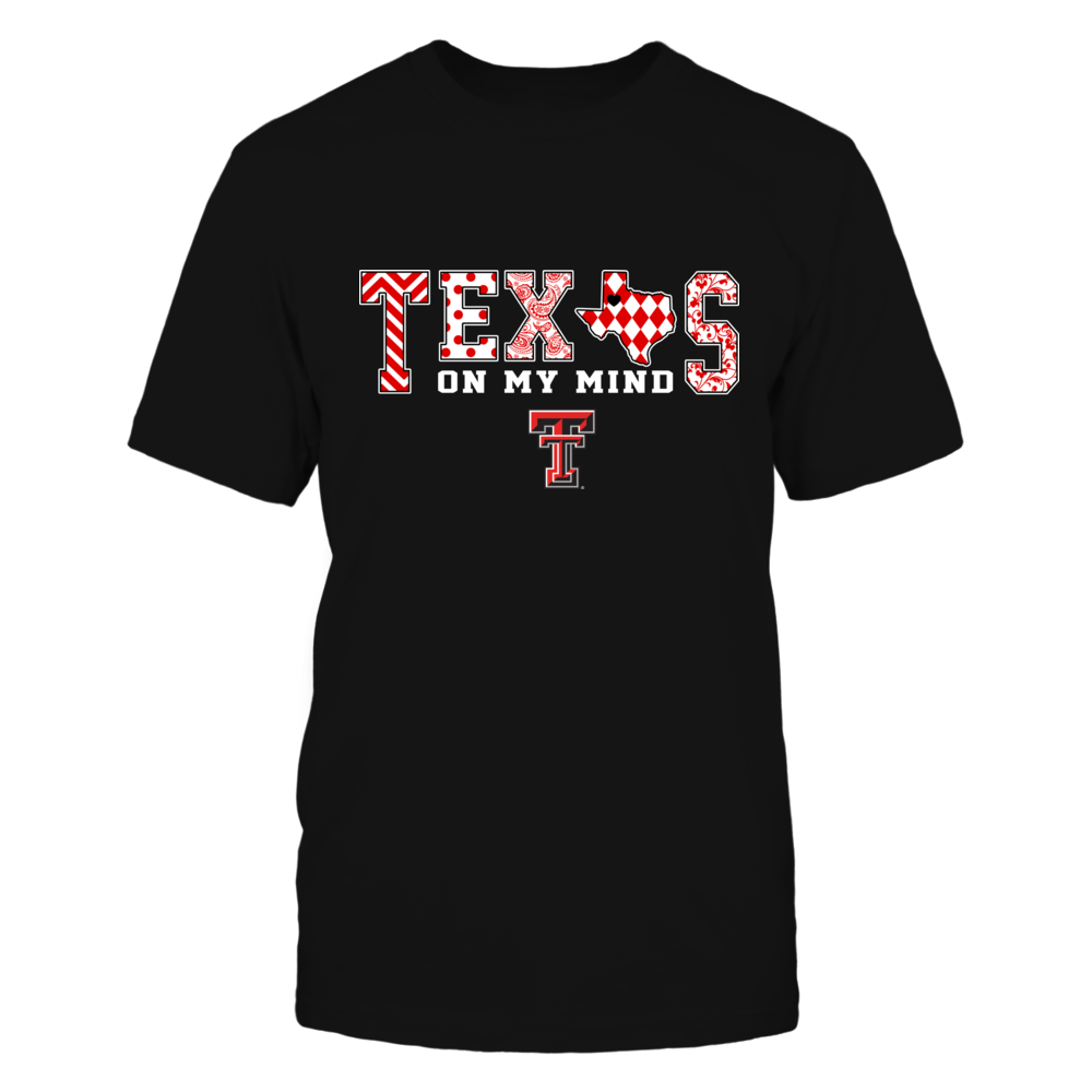 Texas Tech Red Raiders - Texas On My Mind - Pattern - State Map Front picture