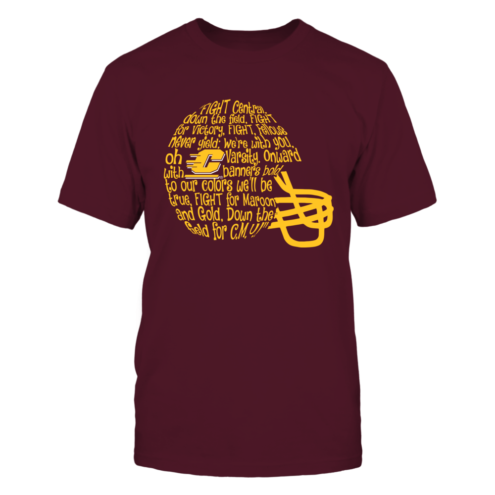 Central Michigan Chippewas - Fight Song Inside Helmet Front picture