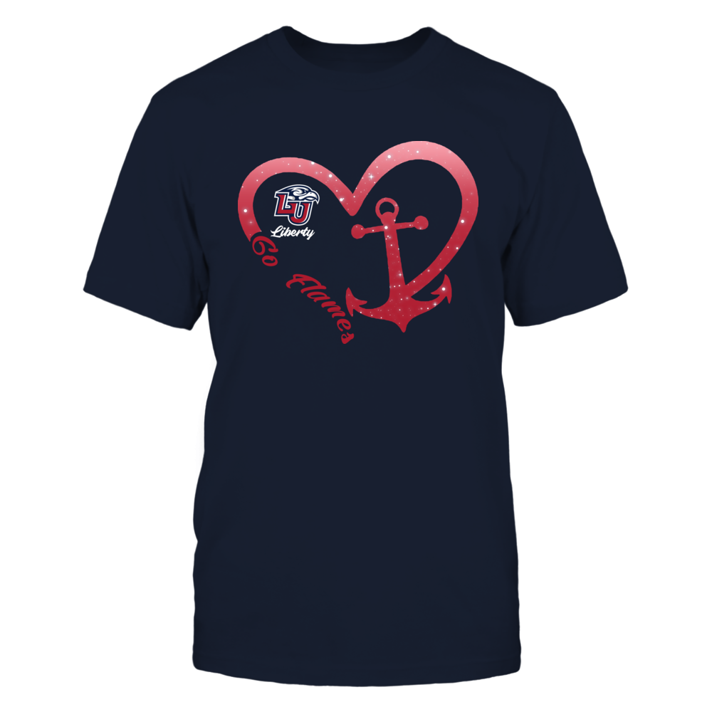 Liberty Flames - Heart Anchor Front picture