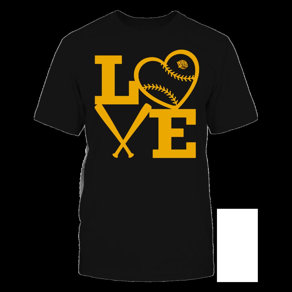 Arkansas Pine Bluff Golden Lions - Love - Baseball - Heart Front picture