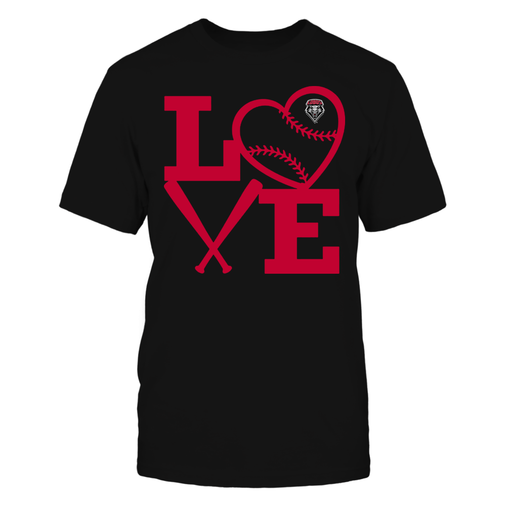 New Mexico Lobos - Love - Baseball - Heart Front picture