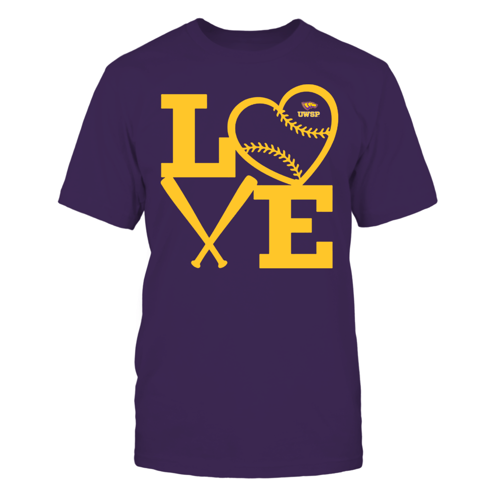 Wisconsin-Stevens Point Pointers - Love - Baseball - Heart Front picture