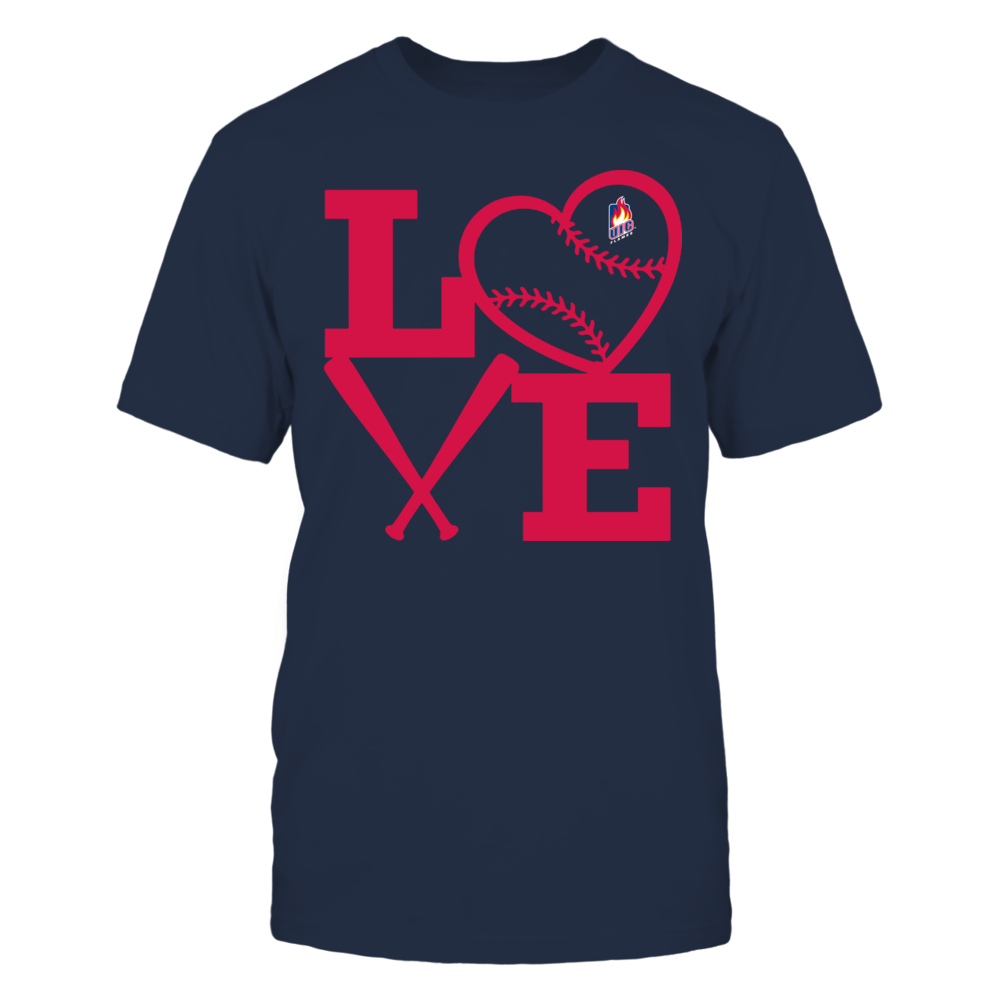 UIC Flames - Love - Baseball - Heart Front picture