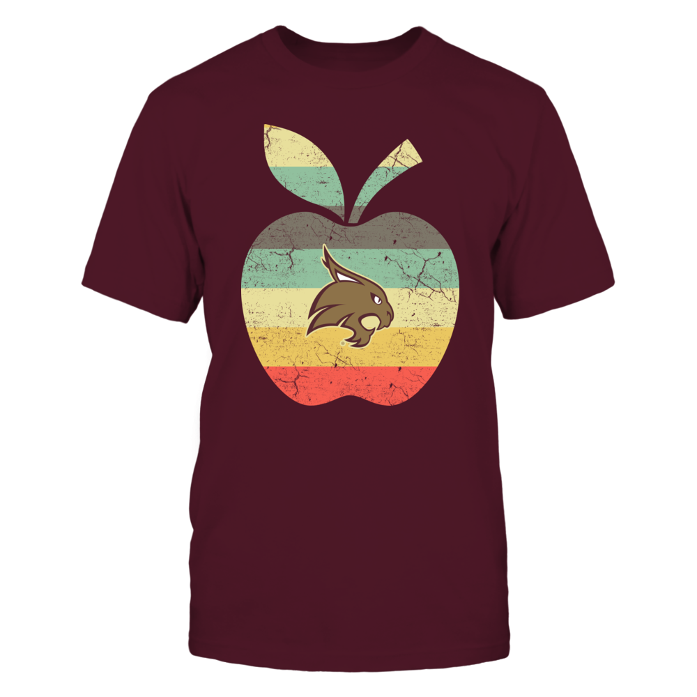 Texas State Bobcats - Teacher - Apple Vintage Graphic - IF-IC78-DS45 Front picture