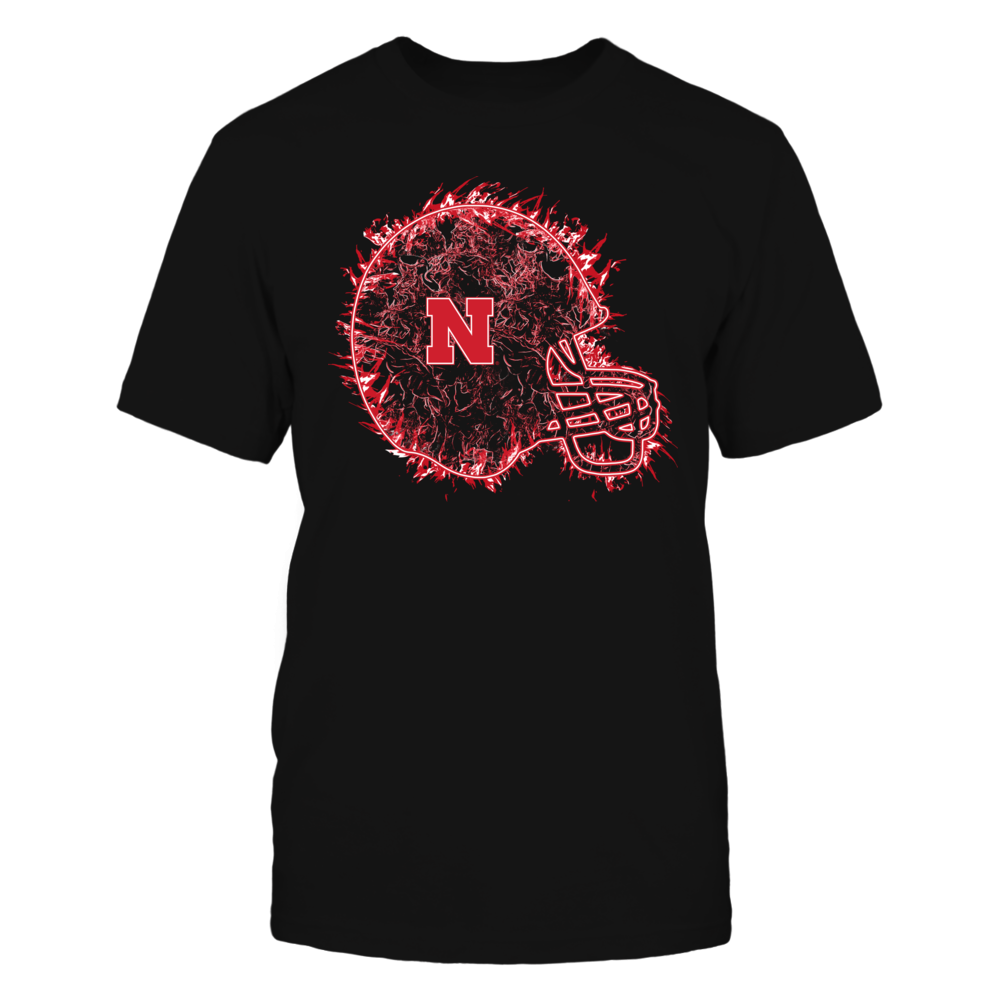 Nebraska Cornhuskers - Football Helmet On Fire Front picture