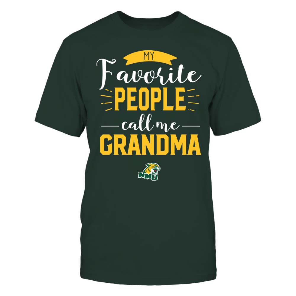 Northern Michigan Wildcats - My Favorite People Call Me - Grandma Front picture