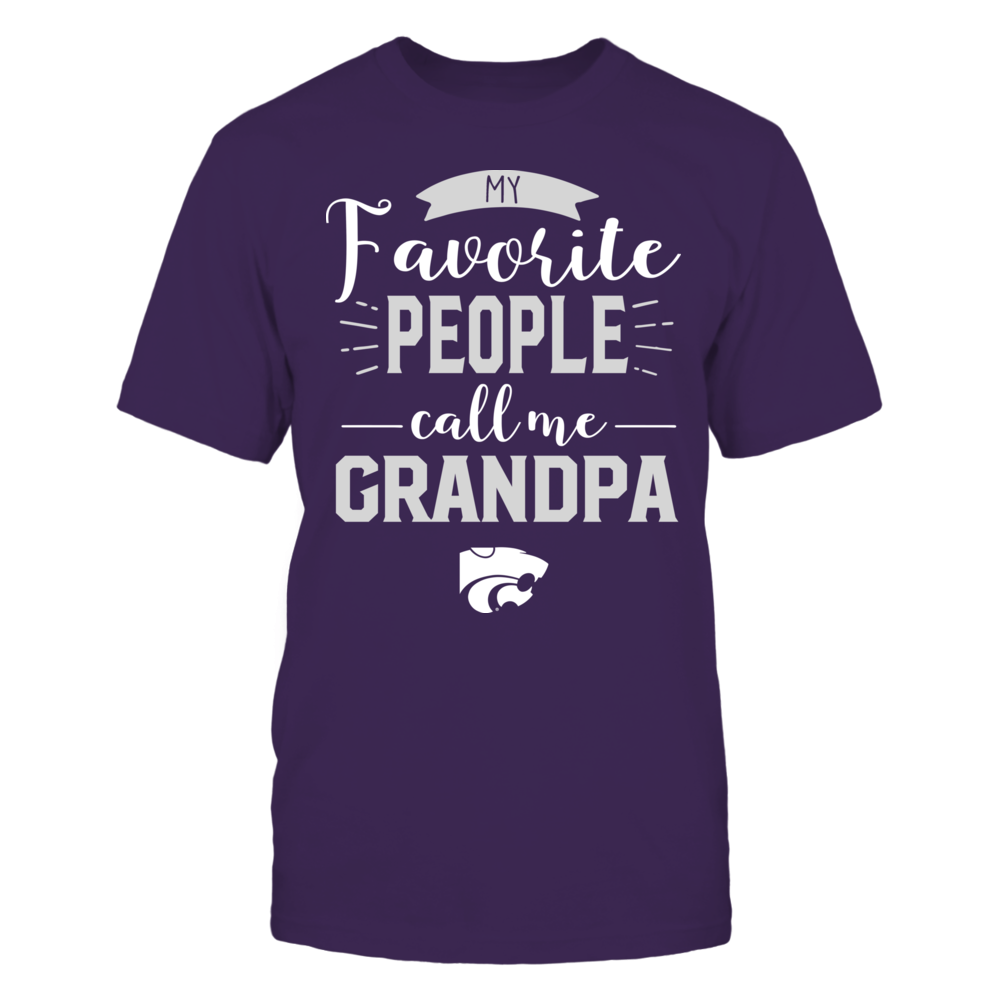 Kansas State Wildcats - My Favorite People Call Me - Grandpa Front picture