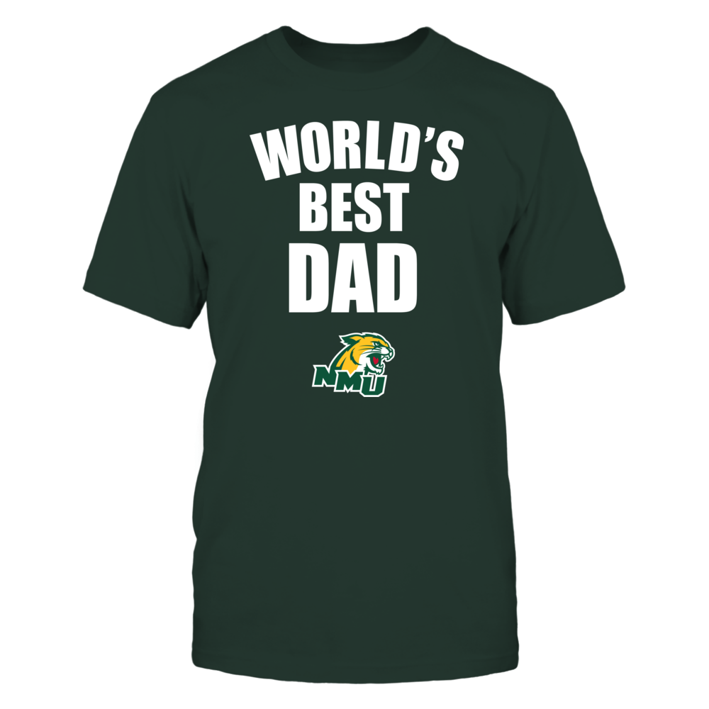 Northern Michigan Wildcats - World's Best Dad - Bold Front picture