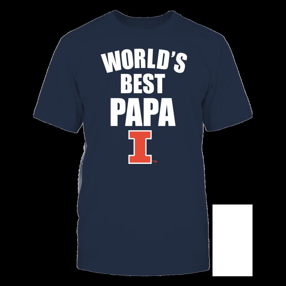 Illinois Fighting Illini - World's Best Papa - Bold Front picture