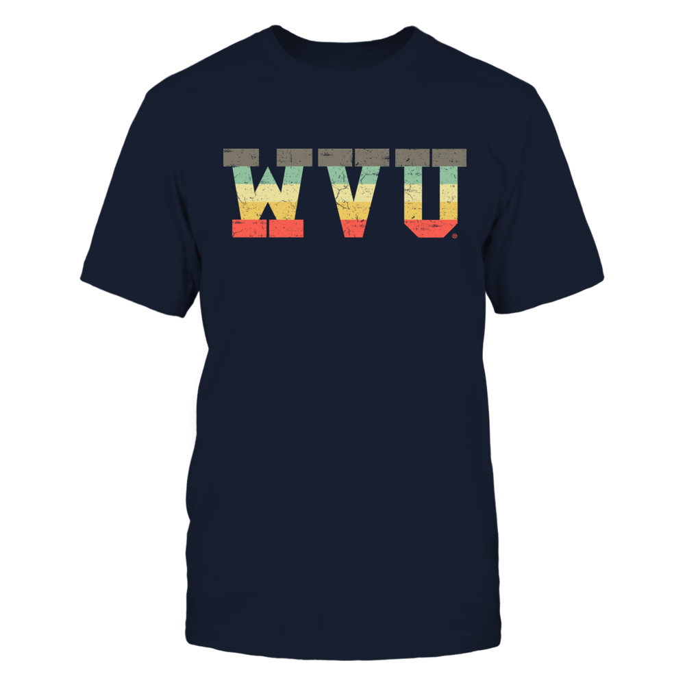 West Virginia Mountaineers - Patterned Letter Vintage Graphic Front picture