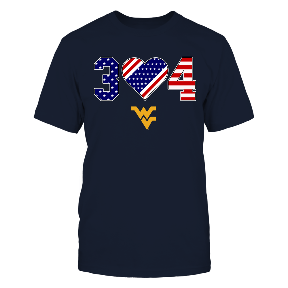 West Virginia Mountaineers - Independence Day - Area Code - Galaxy Nation Flag Heart Front picture