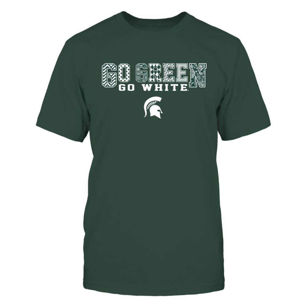 Michigan State Spartans - Team Slogan Pattern Front picture