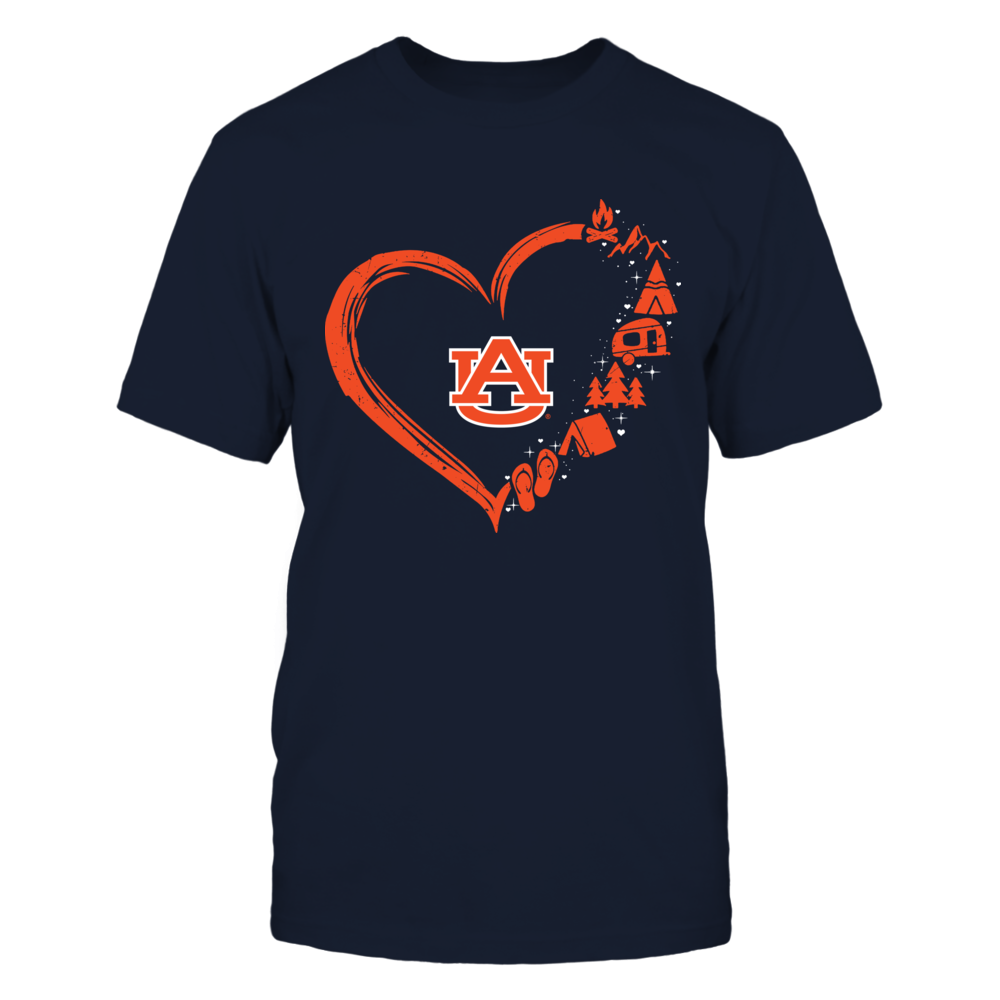Auburn Tigers - Camping Things Heart Outline Front picture