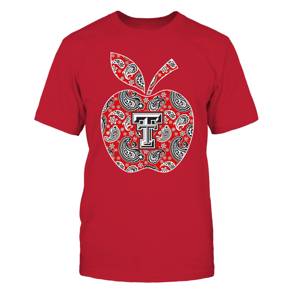 Texas Tech Red Raiders - Teacher - Paisley Patterned Apple - IF-IC13-DS33 Front picture