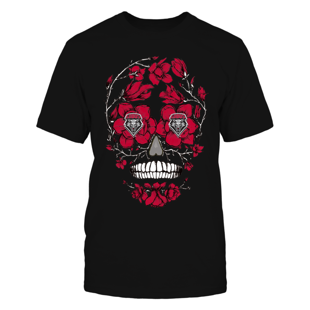 New Mexico Lobos - Flower Skull Front picture