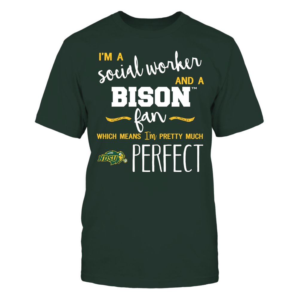 North Dakota State Bison - Perfect Social Worker - Team Front picture