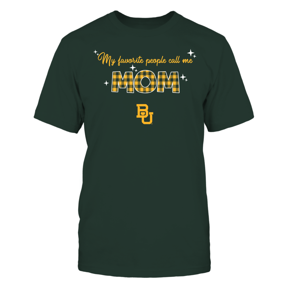Baylor Bears - My Favorite People Call Me MOM - Checkered Pattern Front picture