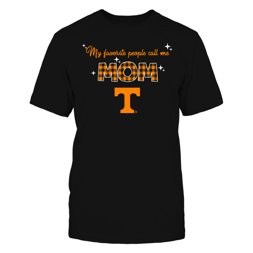 Tennessee Volunteers - My Favorite People Call Me MOM - Checkered Pattern Front picture
