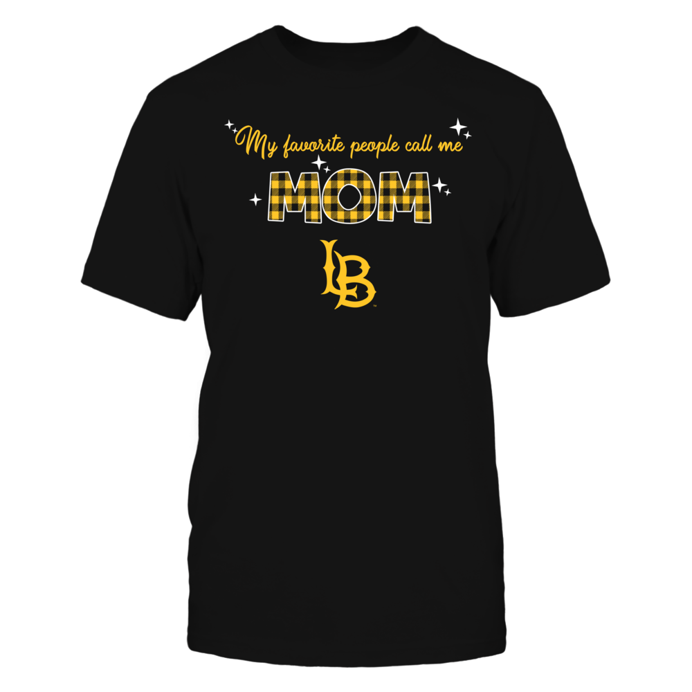 Long Beach State 49ers - My Favorite People Call Me MOM - Checkered Pattern Front picture
