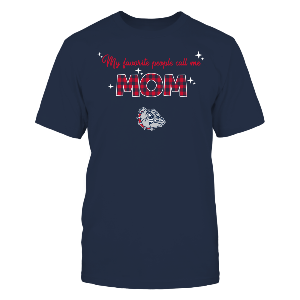 Gonzaga Bulldogs - My Favorite People Call Me MOM - Checkered Pattern Front picture