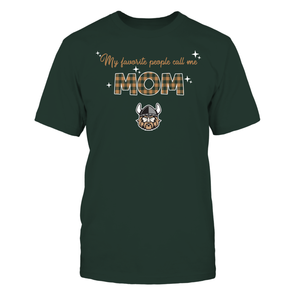 Cleveland State Vikings - My Favorite People Call Me MOM - Checkered Pattern Front picture