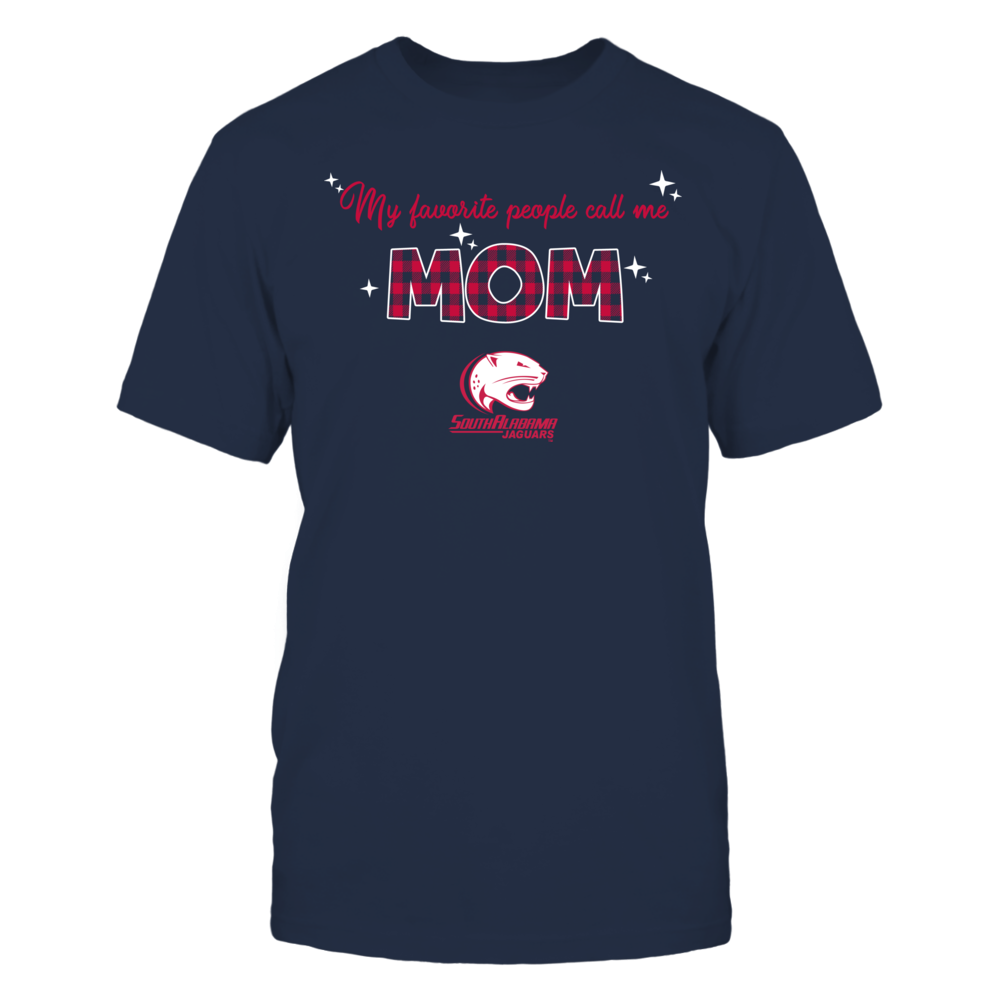 South Alabama Jaguars - My Favorite People Call Me MOM - Checkered Pattern Front picture