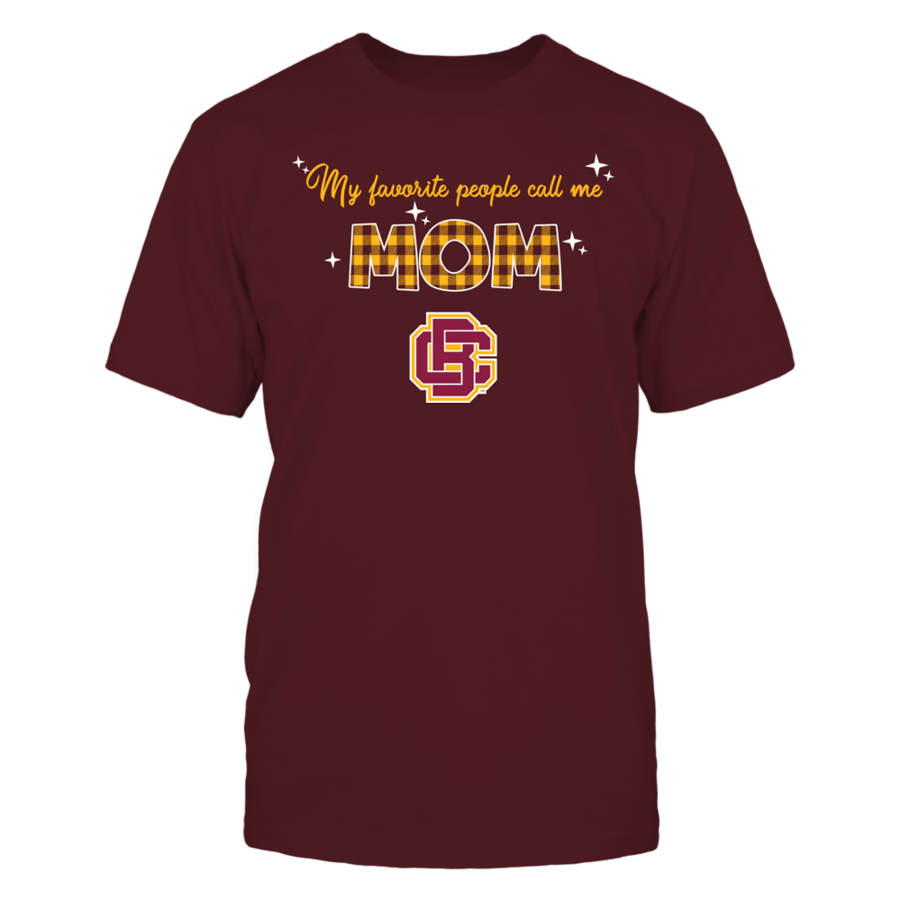 Bethune-Cookman Wildcats - My Favorite People Call Me MOM - Checkered Pattern Front picture