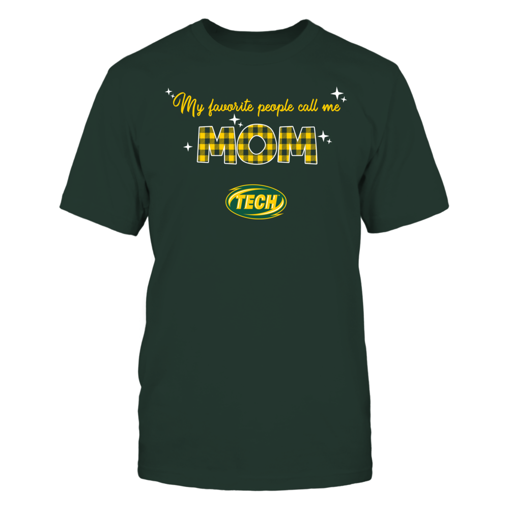 Arkansas Tech Golden Suns - My Favorite People Call Me MOM - Checkered Pattern Front picture