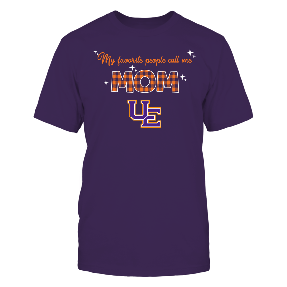 Evansville Purple Aces - My Favorite People Call Me MOM - Checkered Pattern Front picture